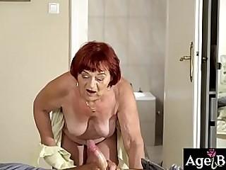Rob tastes granny Marsha's wrinkled vagina