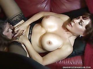 Best Damn Granny Titties Ever Seen on June and Vanessa