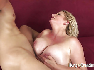 Hairy Granny'S Pussy Is Slurped And Screwed