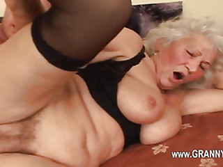 Seductive hardcore porn with granny