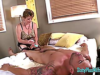 Granny Mummy Massages Shaft