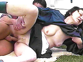 harassment ugly 80 years old granny rough outdoor fucked by her young toyboy