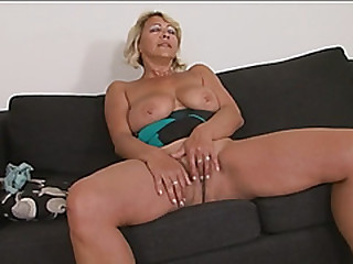Busty blonde gilf doggie-style lengthy black cock