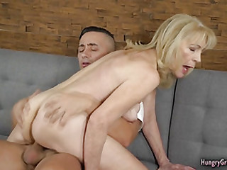 Hot blonde gramma gets fucked by boy dude