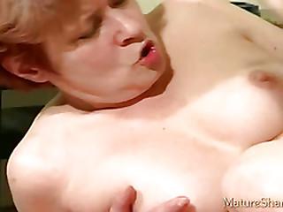 Horny granny oral job