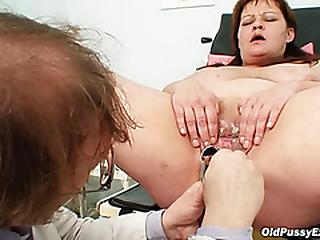 Huge tits bbw mature gyno doc check up
