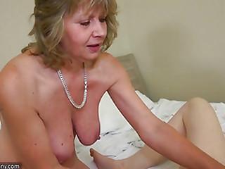 Teen masturbating when mature joining the soiree