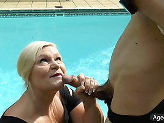 AgedLovE Lacey Starr Fucking Poolboy Gonzo