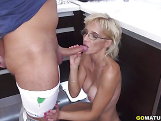 Horny older lady doing her toyboy