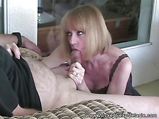 Masturbation And Blowjob With Amateur Grandma