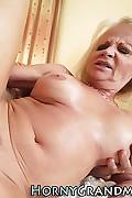 Blond old lady sucks rock hard dick