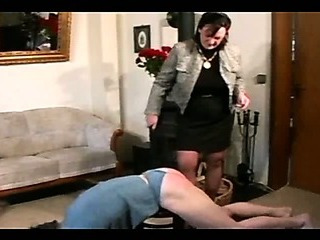 Granny Straps and Spanks the Boy pt2