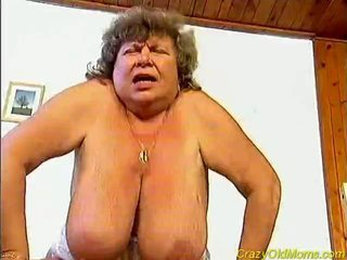 Crazy old mom fucked rock hard sex