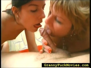 Teen joins grandma and her spouse