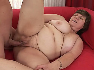 huge beautiful chick granny with ginormous breasts acquires nailed unfathomable in her clam in sideways posture