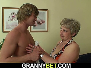 Hotlooking lad bangs old grandma