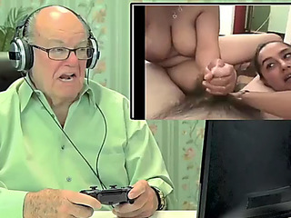 Old people react to internet porno