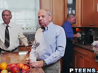 Concupiscent old bastard still knows how to use his rock hard veteran jock