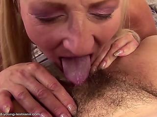 Old mammas fuck juvenile lesbo meat