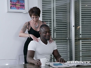 Aged white whore drilled brutally from the rear in interracial scene
