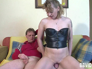 Trio fuck with one hawt older German doxy in hardcore threateningmenacing PornDoe