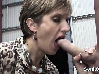Unfaithful English Older Lady Sonia Showcases Her Biggest Bra-stuffers