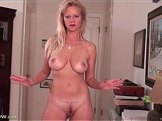Cute aged with incredible voiced brassiere buddies rubs solo
