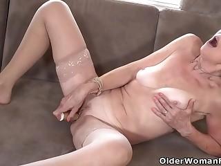 64yearold Euro granny Danina is a passionate masturbator