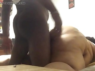 Black bbw getting hard-on down