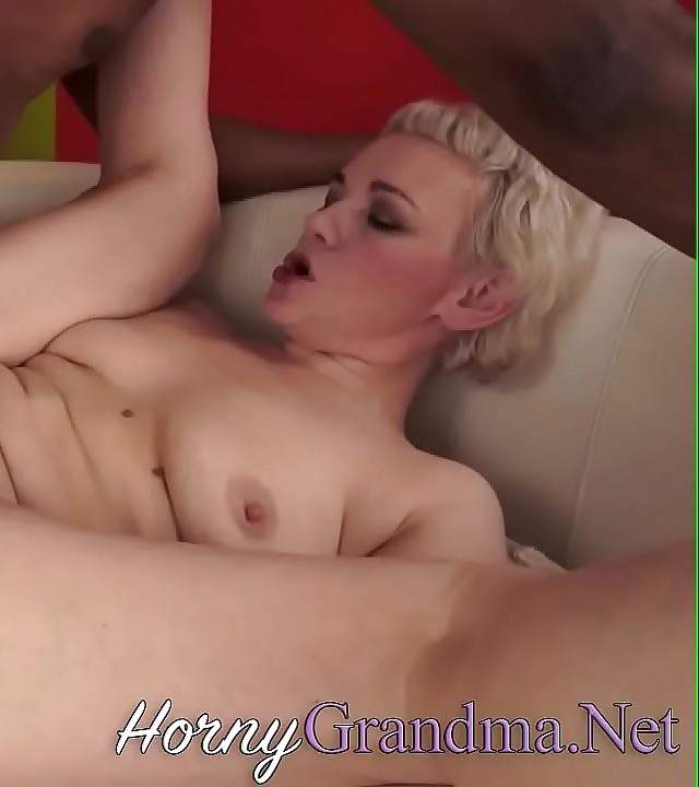 Old gilf rides big black hard-on
