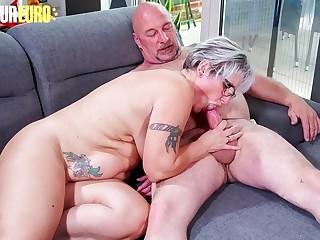 Unexperienced EURO  Horny German Granny Brigitte T. Fucks With Plumber