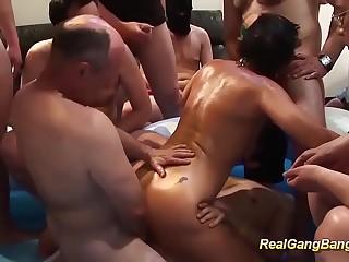 lush grandmas first lubricated gangbang fucky-fucky