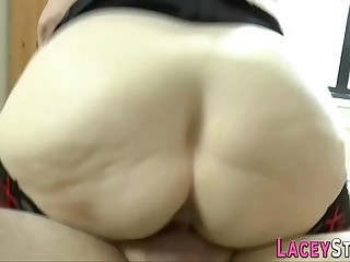 Granny loves a huge hard cock in her pussy