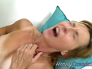 Stockings granny spunked