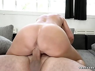 Busty blonde granny ravished by a stud