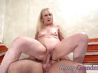 Grandmother sucking schlong