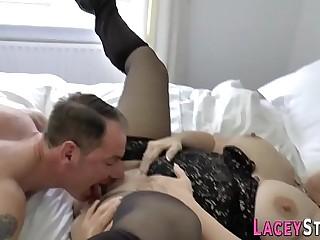 Grandma bounces on cock