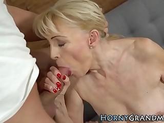Grandmother seize cock