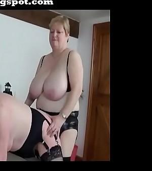 Sapphic grannies strappon fuck