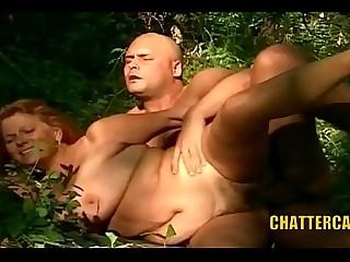 Granny Gets Fucked and Facial Outdoors
