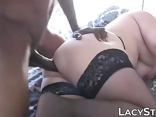 GILF Lacey Starr in xxx interracial anal penetration