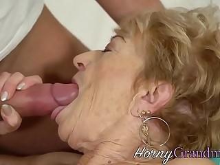 Rode grandma cum dumped