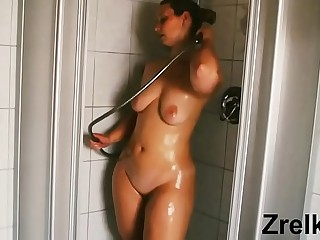 Mature sexy step mom milf in bath. Big ass