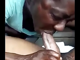 Ebony granny screwing for money