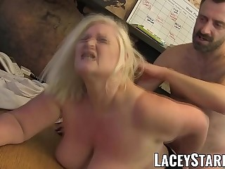 LACEYSTARR  Doctor GILF eats Pascal White cum after sex