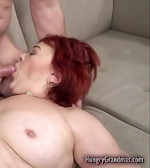 Old Redhead Gets Fucked Rock hard