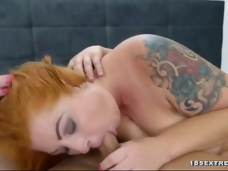 Meaty blonde granny fucked by a stud